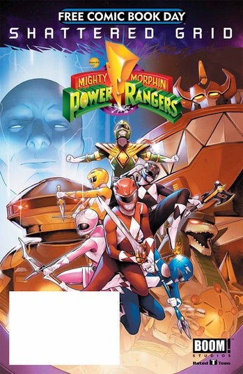 mighty morphin power rangers free comic book day