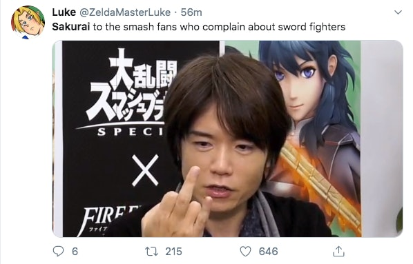 Super Smash Bros Ultimate Sakurai