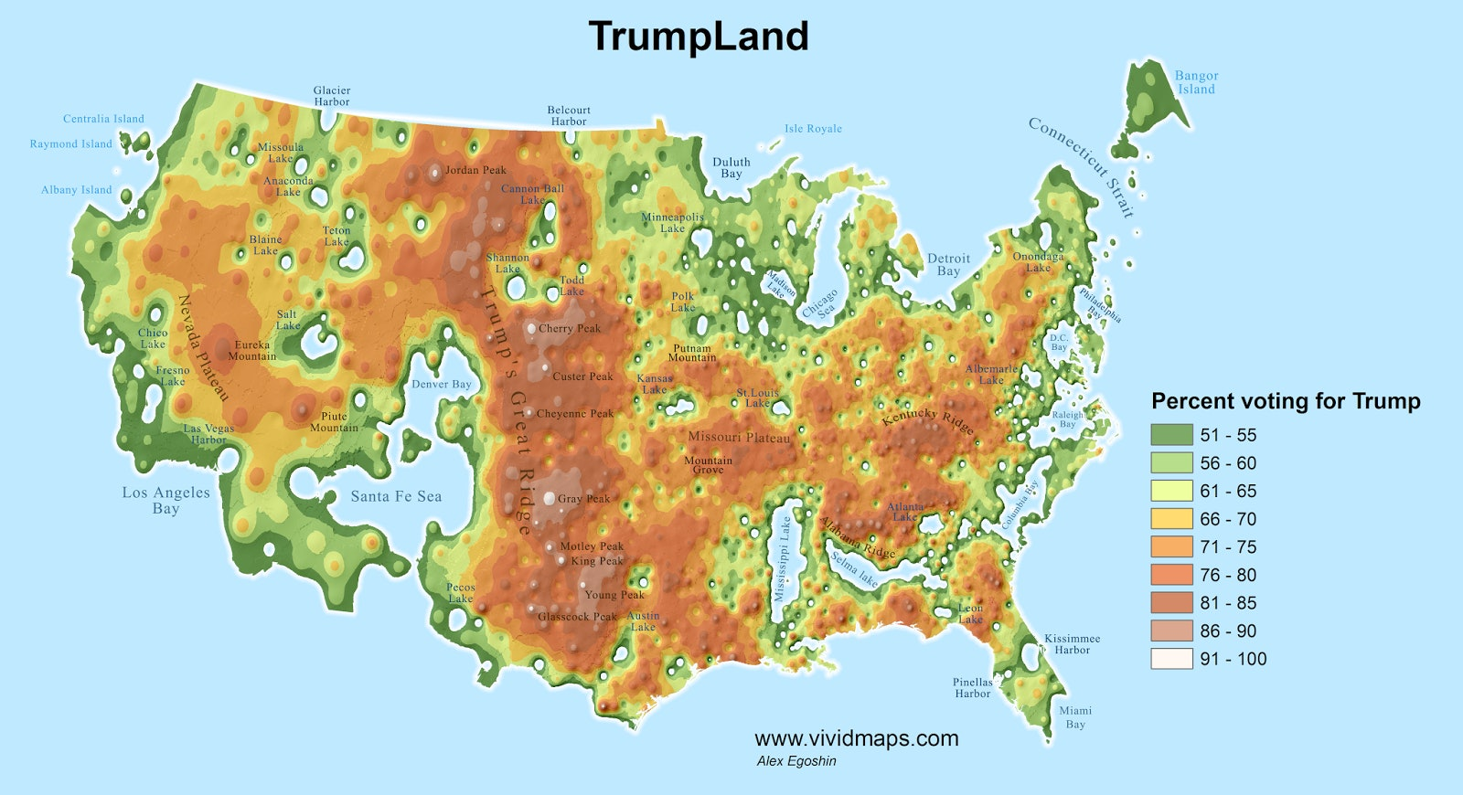 Detailed Maps Split the U.S. Into TrumpLand and the Clinton ... on detailed map of yellowstone national park, detailed map of martha's vineyard, detailed map usa states, detailed map of america, detailed map of northeast us, detailed map of brunei, detailed map of interstates in united states, google maps of the us, detailed map of california, detailed map of united arab emirates, detailed map of ohio state, detailed map of haida gwaii, detailed map of the carribean, detailed map of the philippines, detailed map of west ireland, demographics of the us, detailed map of indiana pa, detailed map of pinellas trail, detailed map of uk, satellite imagery of the us,