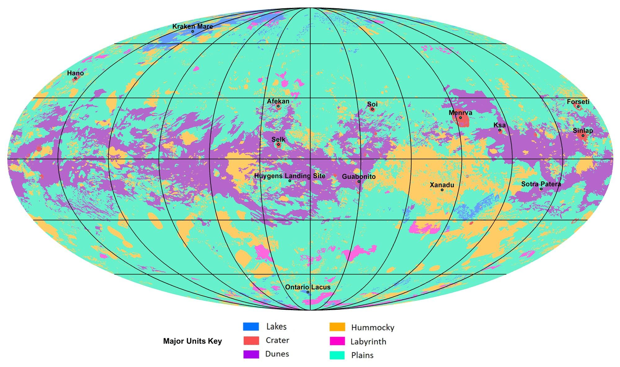 Titan geological map