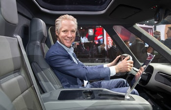 VW Group of America CEO Scott Keough at the LA Auto Show this week.