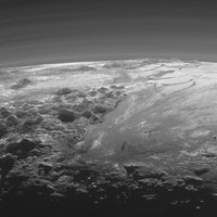 Pluto's Nitrogen Ice Glaciers Have Floating Hills Made of Ice