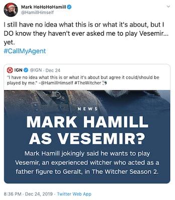 mark hamill witcher