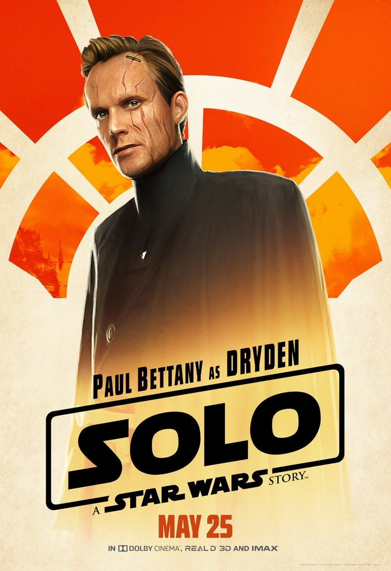 Paul Bettany as Dryden Vos in 'Solo: A Star Wars Story'.
