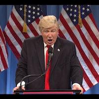 'SNL' Trump Press Conference Skit Preps Americans for Inevitable Freudian Slip