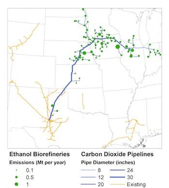 Carbon dioxide capture CCS pipeline climate change