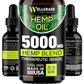 Hemp Oil for Anxiety Relief - 5000 MG - Premium Seed Grade - Natural Hemp Oil for Better Sleep