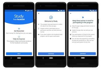 Facebook Study app