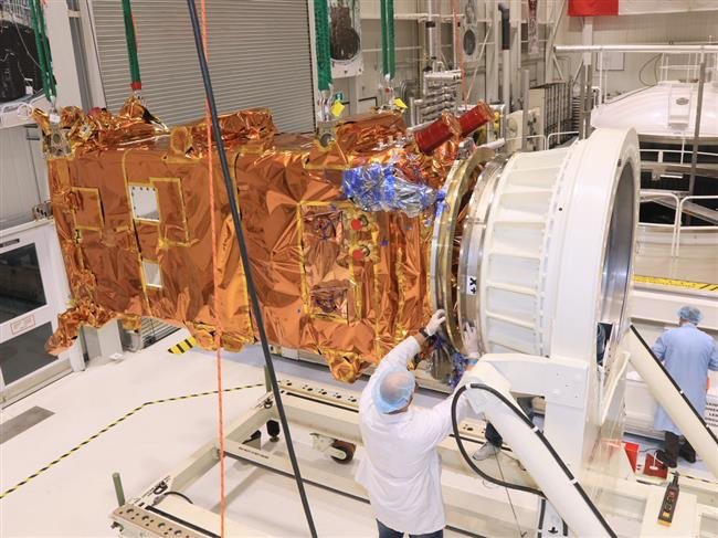 The third craft inside a thermal vacuum chamber.