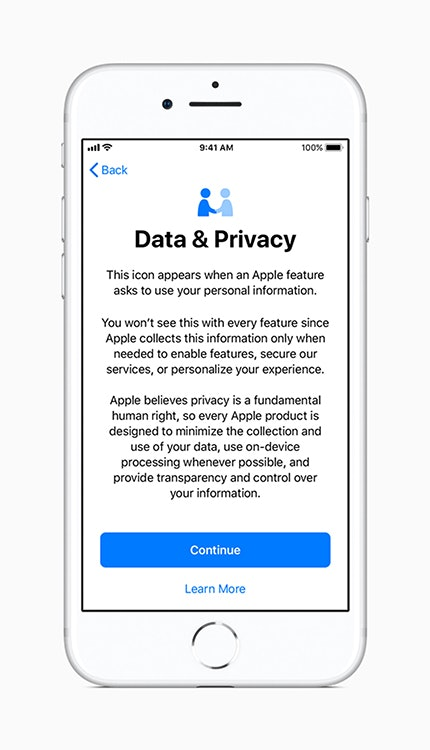 Apple iOS 11.3 privacy features