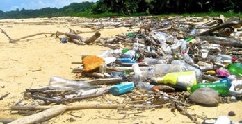 coco islands plastic waste