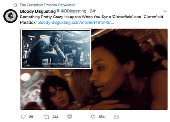 'Cloverfield' and 'Cloverfield Paradox' match up in an uncanny way.