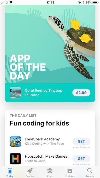 The iOS 11 App Store.