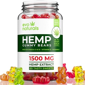 Evo Naturals Gummies – 1500 MG Natural Hemp Extract