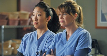 Dr. Christina Yang, Dr. Meredith Grey on 'Grey's Anatomy'.
