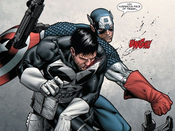 Marvel Captain America Punches Punisher