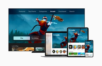 Apple Arcade stretches across all Apple's devices.