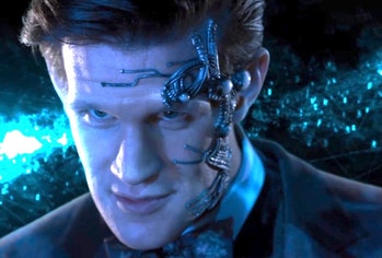 "Matt Smith as the ""cyber Doctor"" in Neil Gaiman's ""Nightmare in Silver""on 'Doctor Who'"