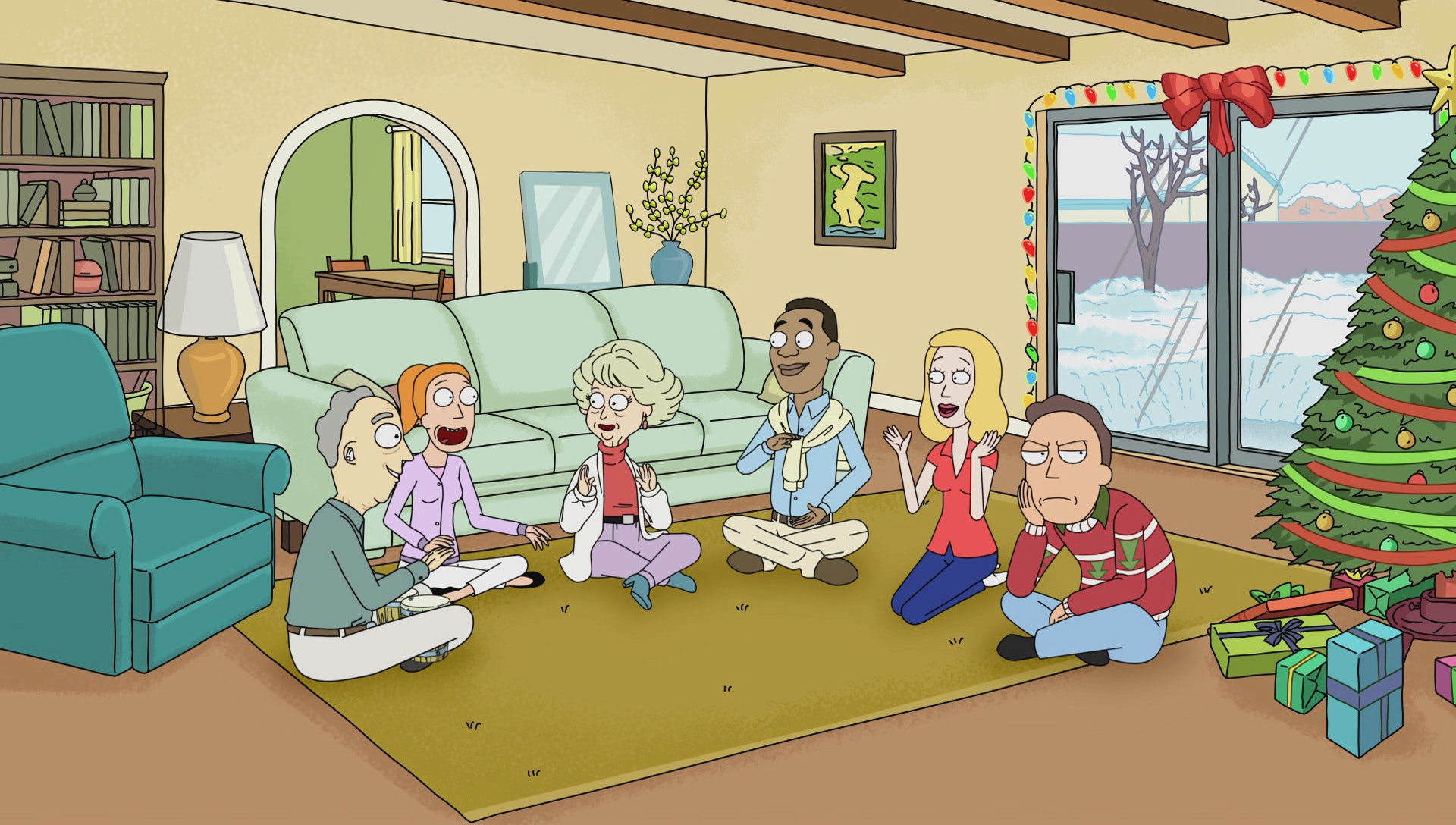 Jerry has a hard time this Christmas on 'Rick and Morty'.