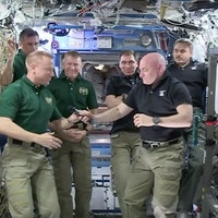 Astronaut Scott Kelly Hands Over Command of the International Space Station