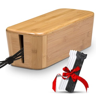 Teyga Bamboo Cable Management Box