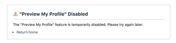 """The """"View As"""" feature was disabled on Friday."""