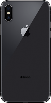 The space gray iPhone X