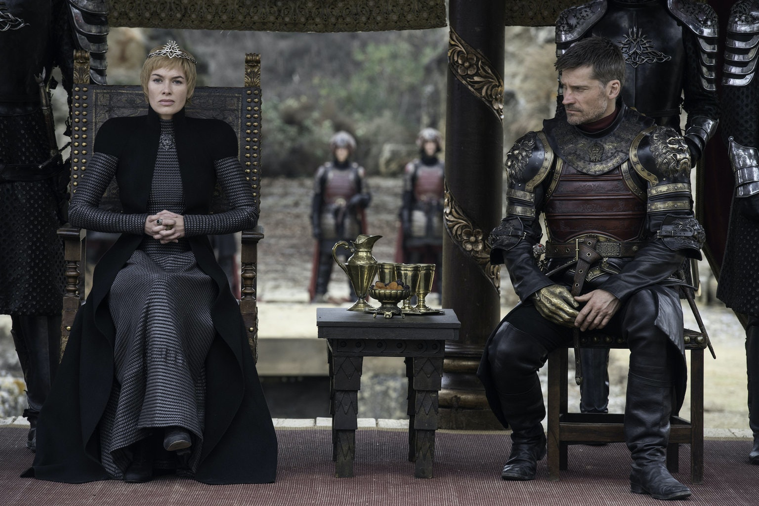 Jaime's look towards Cersei says it all. The twincest lovers are done for.