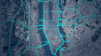 Loop NYC plan streets open autonomous car cross traffic revision parks