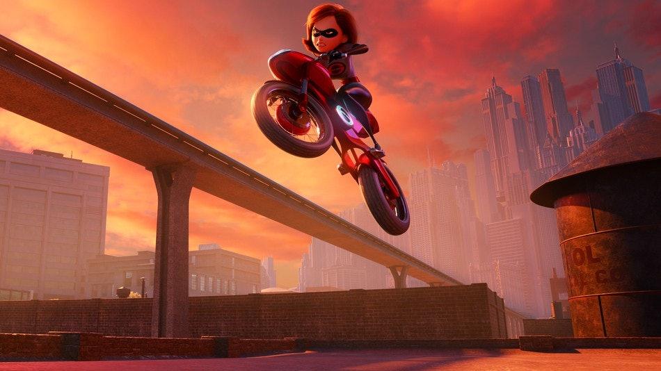 Elastigirl takes center stage in 'Incredibles 2'.