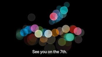 The 2016 invitation Apple sent to the media.