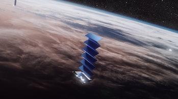 A SpaceX Starlink satellite unfolding.