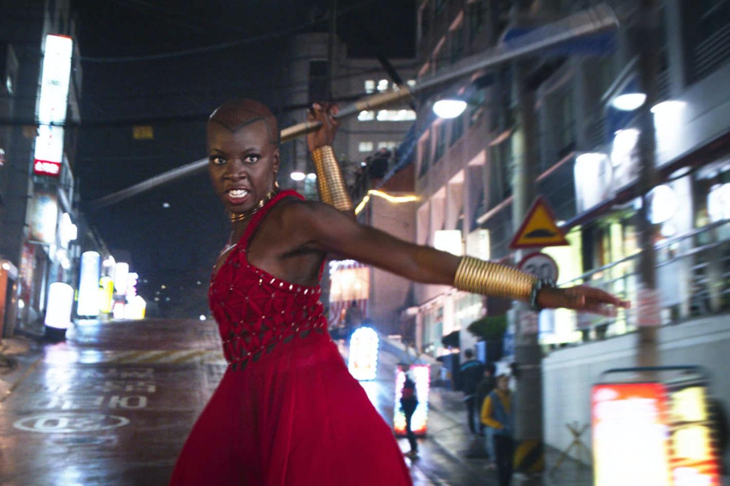 Danai Gurira as Okoyein 'Black Panther'.
