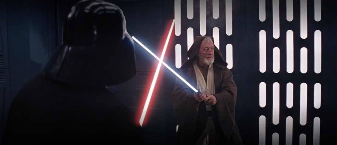 Obi-Wan gets ready to take one for the team.