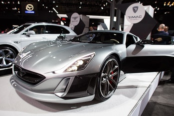 The Rimac Concept One at the NY Auto Show.