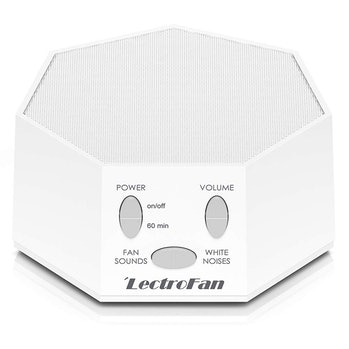 Adaptive Sound Technologies LectroFan High Fidelity White Noise Sound Machine with 20 Unique Non-Looping Fan and White Noise Sounds and Sleep Timer