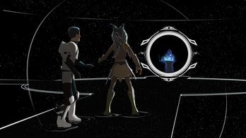 Ezra and Ahsoka face Palpatine in the World Between Worlds