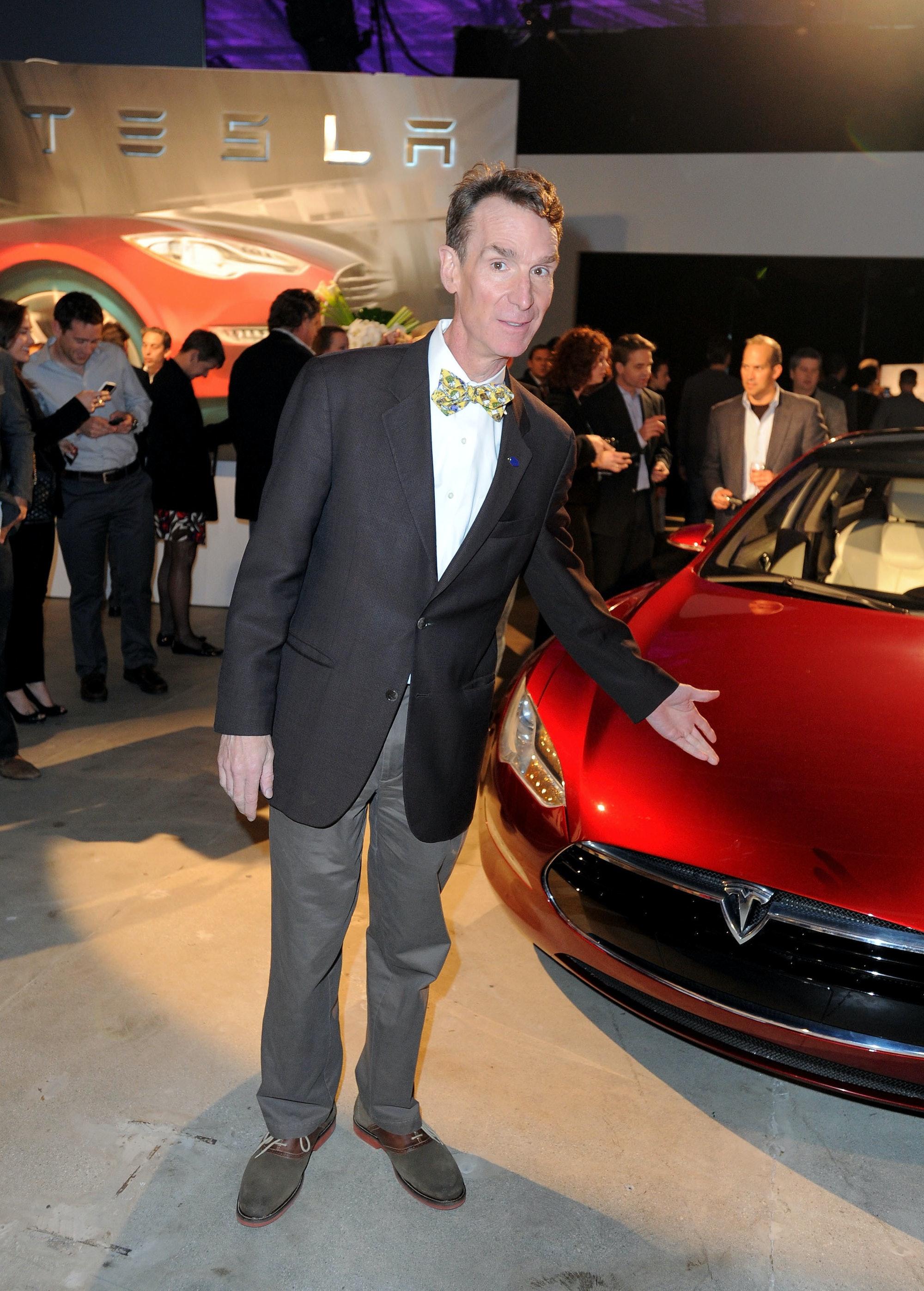 Bill Nye with a Tesla