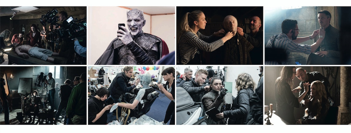 'Game of Thrones' behind-the-scenes photos.