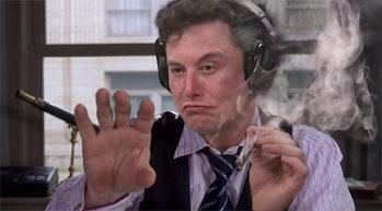 Elon MUsk as J. Jonah Jameson