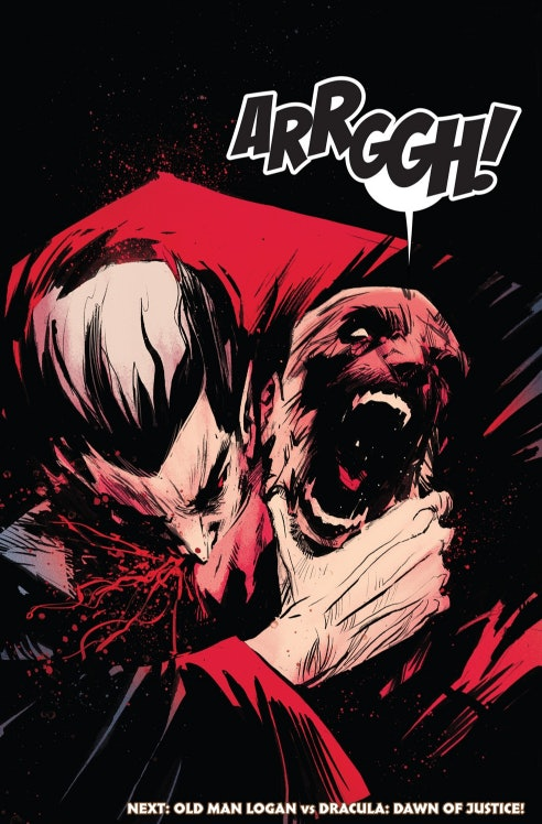 panel from Old Man Logan for Marvel Comics