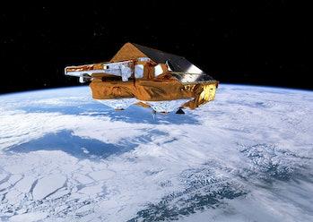 ESA cryosat satellite glacier tracking climate change