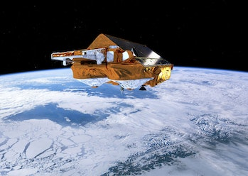 ESA cryosat satellite glacier tracking climate change
