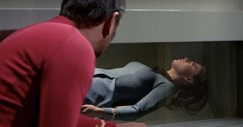 The Lights of Zetar classic Star Trek Scotty and Mira Romaine