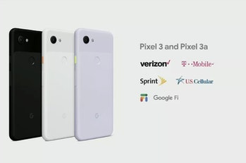 google i/o pixel 3a carriers