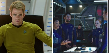 At present, the 'Star Trek' films and the TV series, like 'Star Trek: Discovery,' exist under the purview of separate studios, preventing a major crossover.