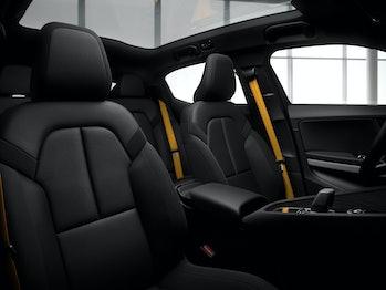 The interior seats.