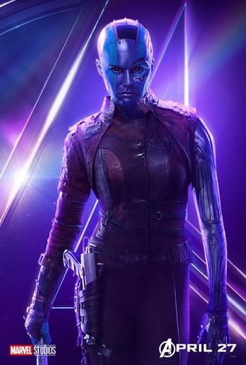 Karen Gillan as Nebula in a promotional poster for 'Avengers: Infinity War'.
