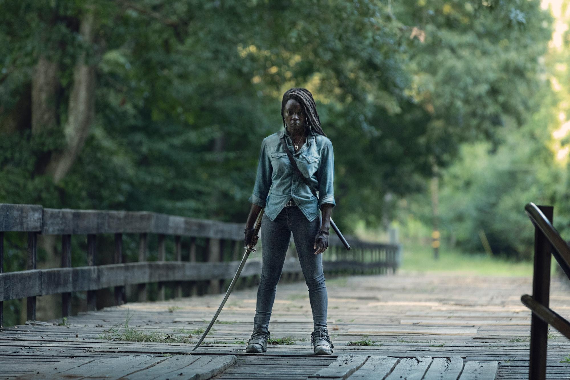 the walking dead michonne danai gurira amc season 9