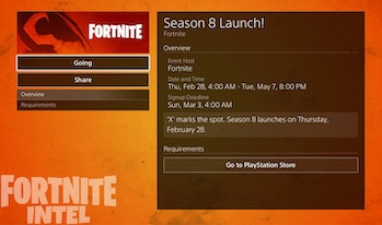 Fortnite Season 8 Start Time